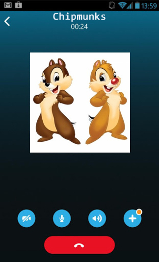 Chipmunks voice on Skype for Android