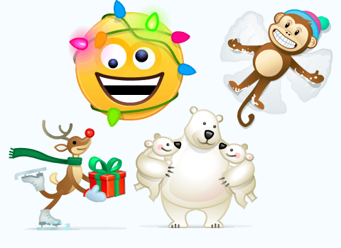In the Skype emerged 4 additional Christmas emoticons