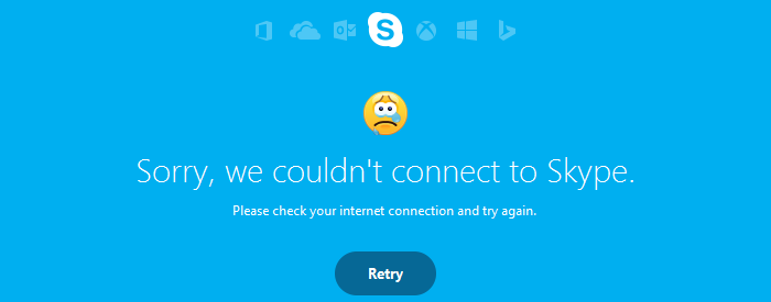 Sorry, we couldn't connect to Skype