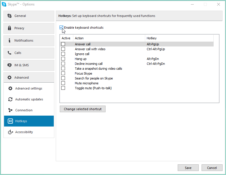 How to set up Push-to-talk on Skype for Windows