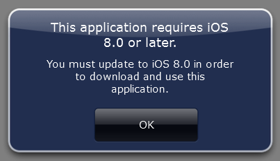 This application requires iOS 8.0 or later