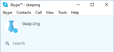 Network status on Skype for Windows constantly spins