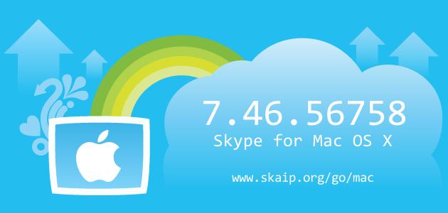 Skype 7.46.56758 for Mac OS X