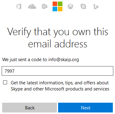 Verify that you own this email address