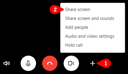 Screen sharing in the new Skype