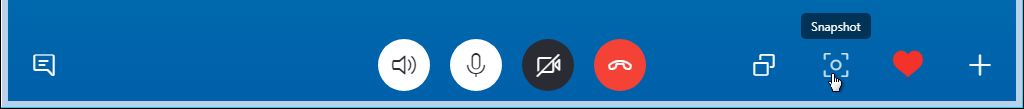 How to take snapshots in Skype 8